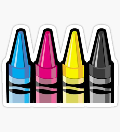 CMYK Crayons Sticker