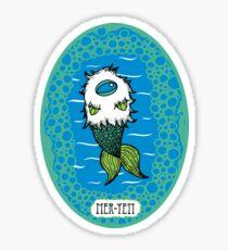 Mer-Yeti Sticker Sticker