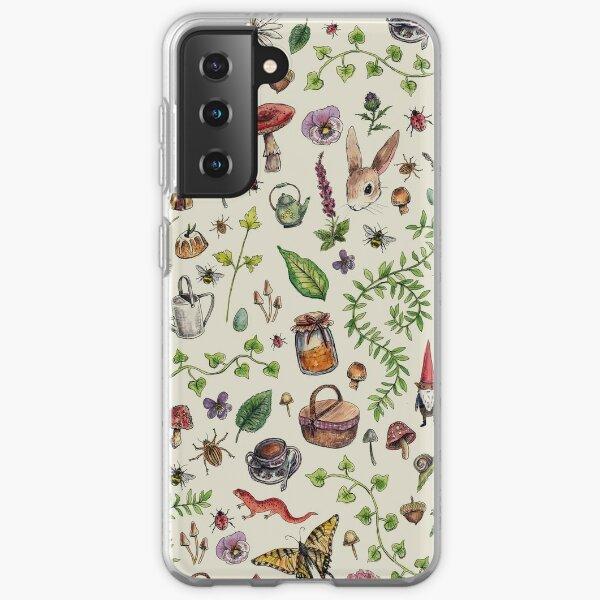 Cottagecore light green Samsung Galaxy Soft Case