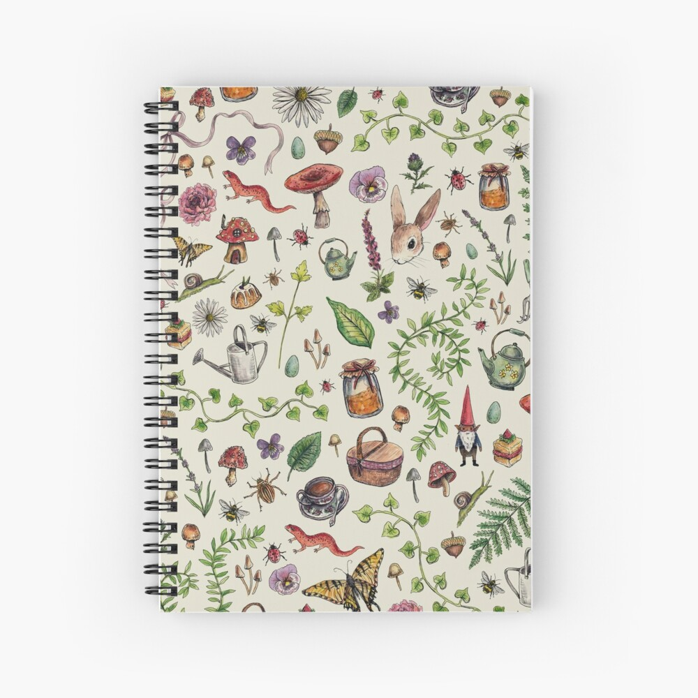 Cottagecore light green Spiral Notebook