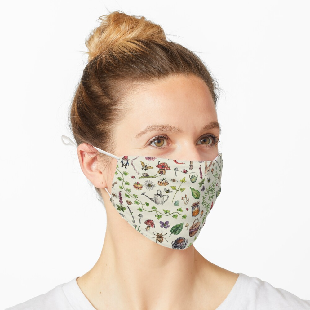 Cottagecore light green Mask