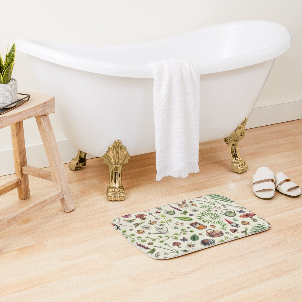 Cottagecore light green Bath Mat