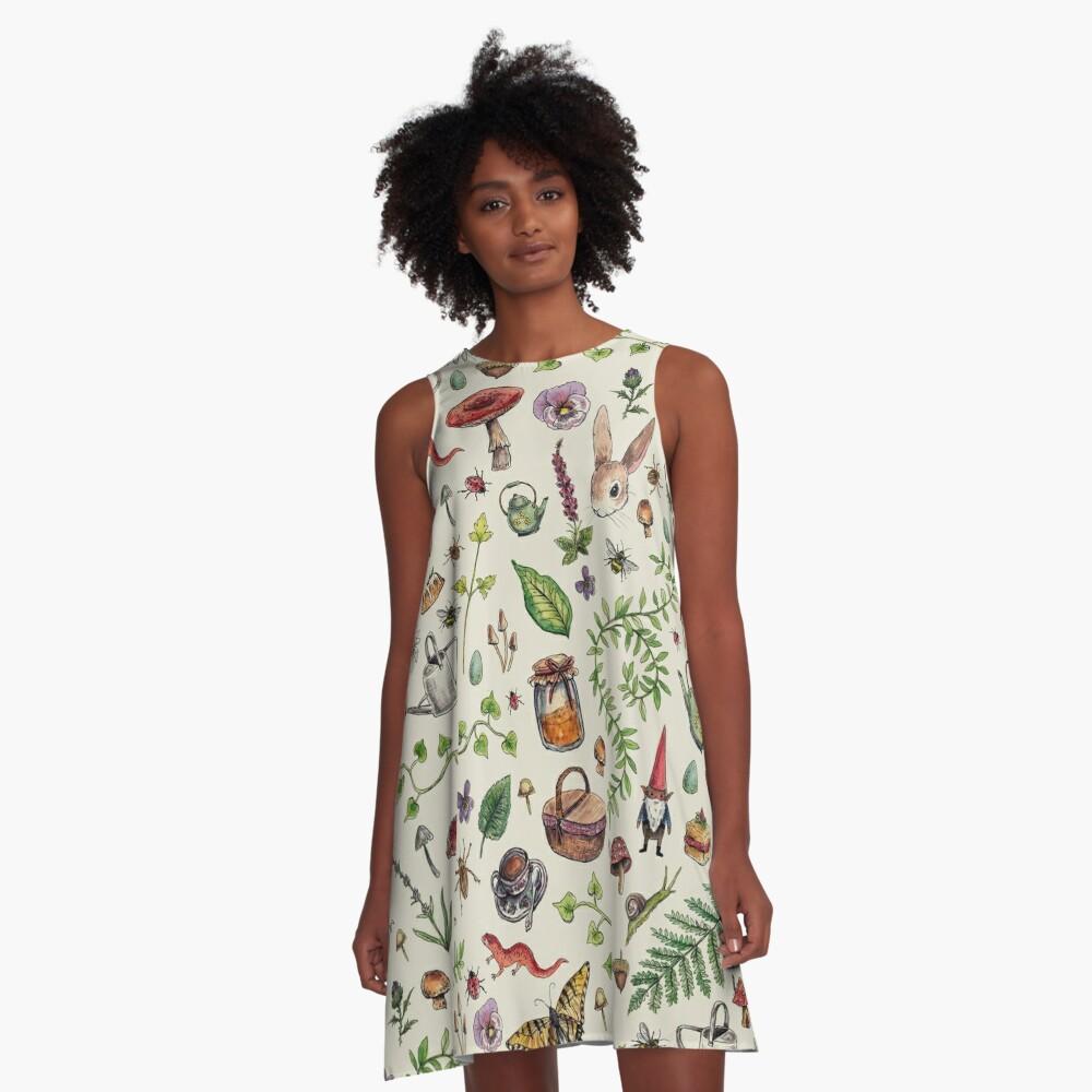 Cottagecore light green A-Line Dress