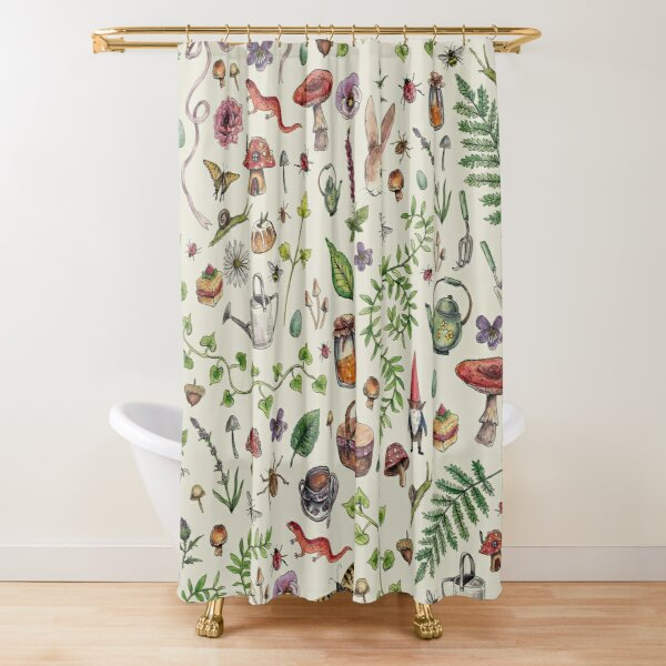 Cottagecore light green Shower Curtain