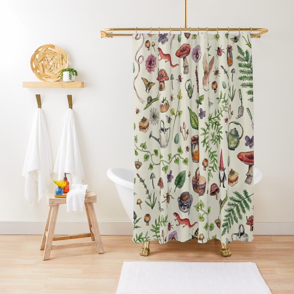 Cottagecore light green Shower Curtain