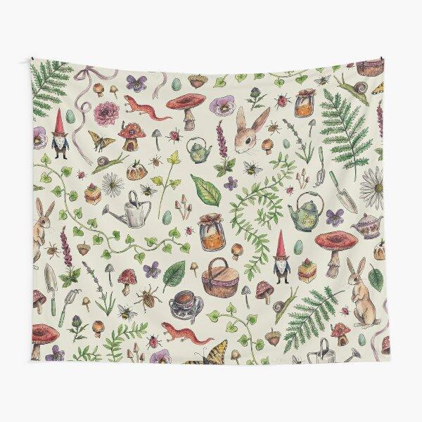 Cottagecore light green Tapestry