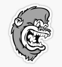 B&W Monkeying Around. Sticker