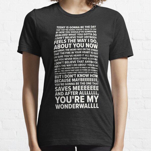 Wonderwall Lyrics (Oasis) Essential T-Shirt