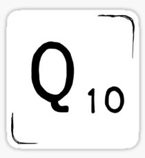 Q Scrabble Tile [sticker version] Sticker