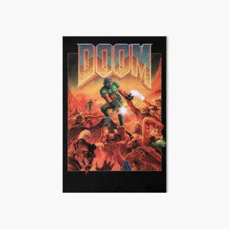 Doom Retro Video Game Cover Art Board Print