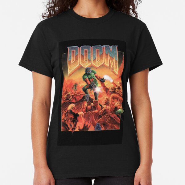 Doom Retro Video Game Cover Classic T-Shirt