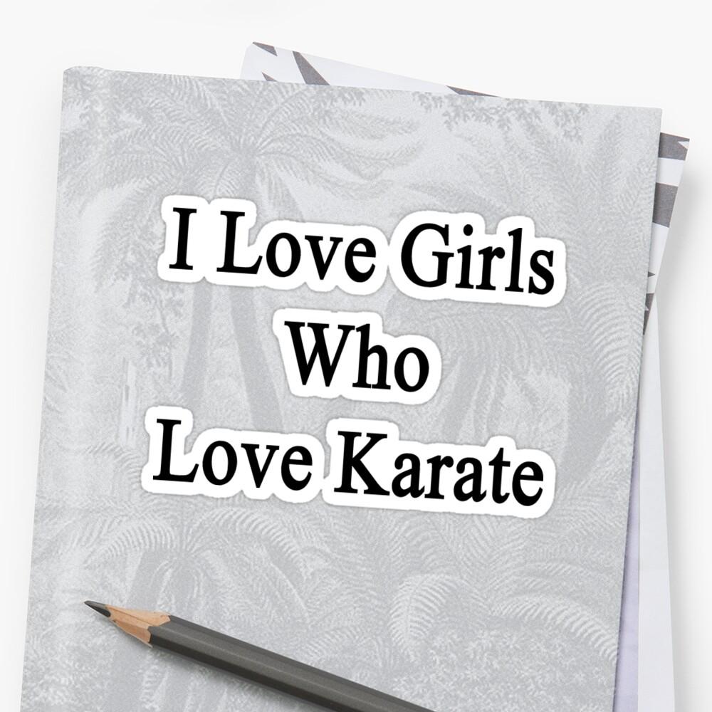 I Love Girls Who Love Karate by supernova23