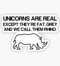 Unicorns are real! Sticker