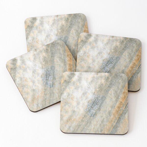 Grey Stone Marble Decor Coasters (Set of 4)