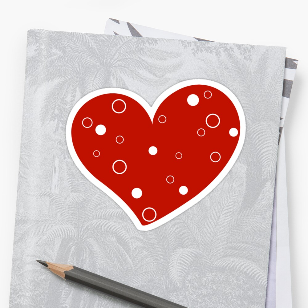 Valentine day doodle hearts  by Ana Marques