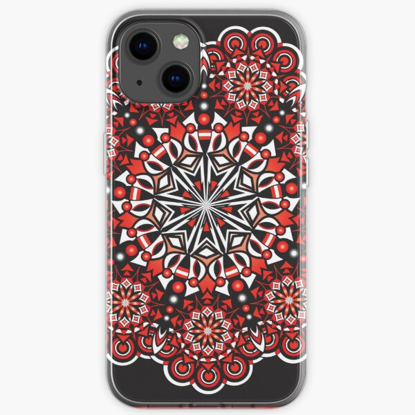 black and white and red all over iPhone Soft Case