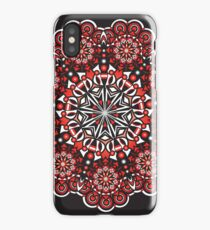 black and white and red all over iPhone Case/Skin