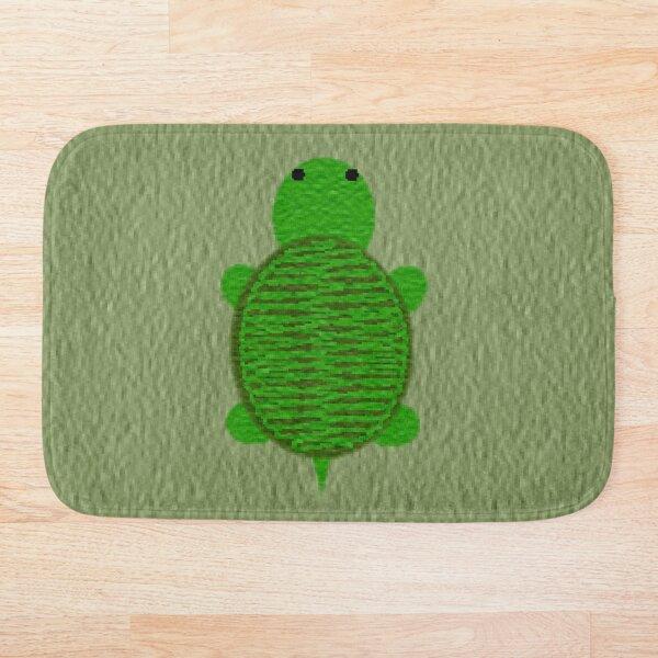 Cute Green Yarn Turtle Bath Mat