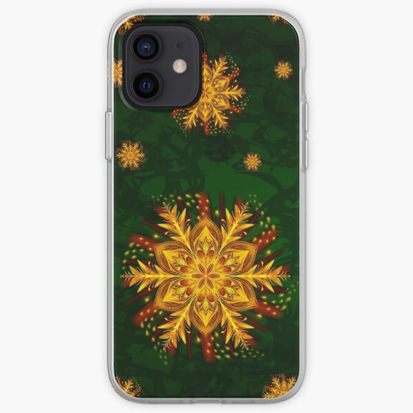 Forest Fire Flake iPhone Soft Case
