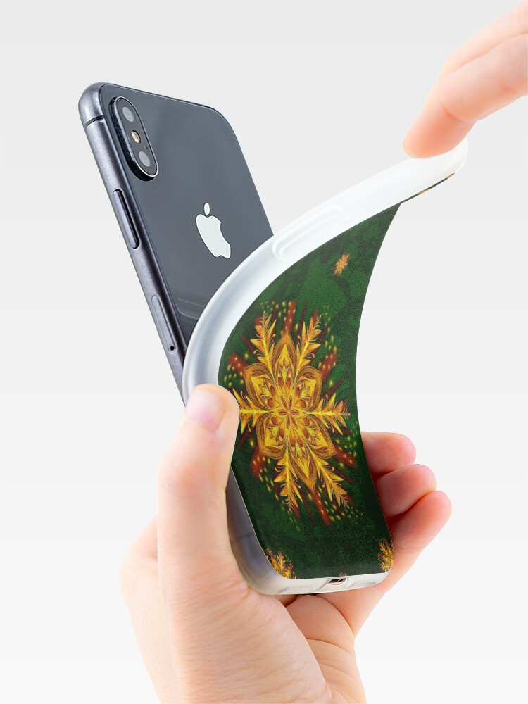 Alternate view of Forest Fire Flake iPhone Case & Cover