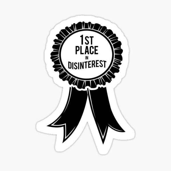 Disinterest Award Sticker