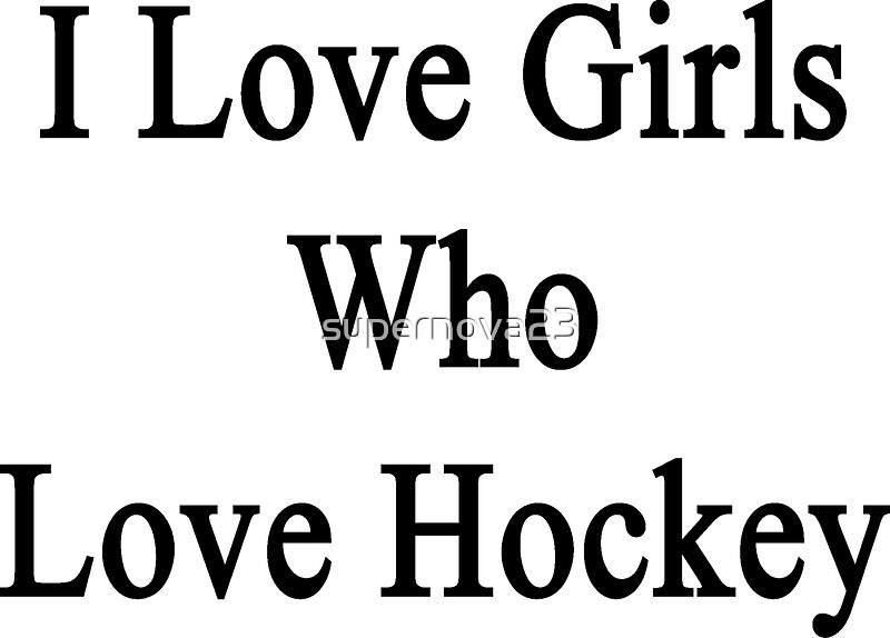 girls who love hockey