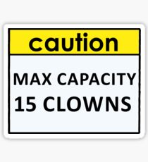 Max Capacity Sticker