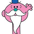 Mr Beardy sticker by Jacqueline Gwynne