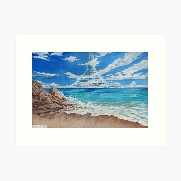 HALO - Shoreline Gouache Art Print