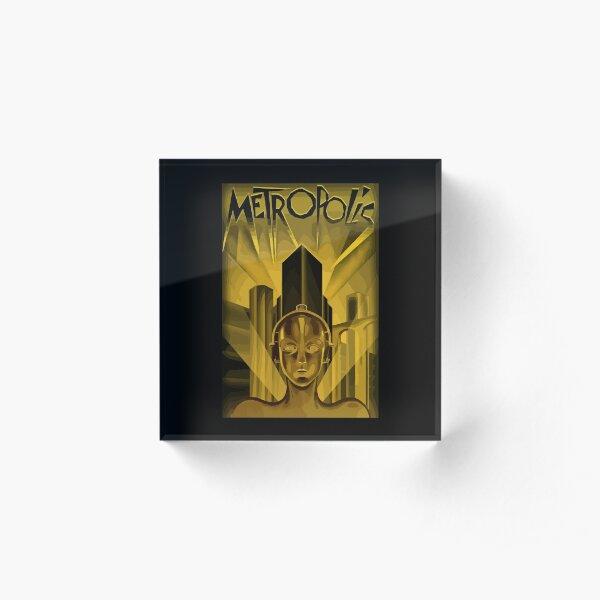 Metropolis 1927, movie, poster, from Fritz Lang, Original Design Acrylic Block