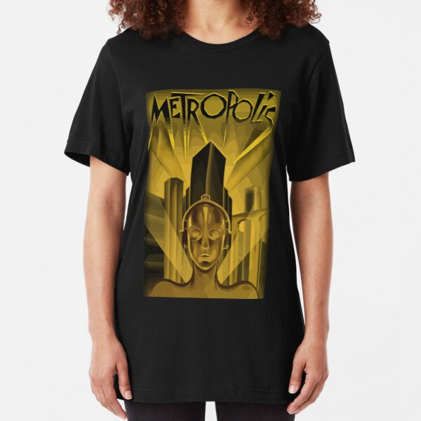 Metropolis 1927, movie, poster, from Fritz Lang, Original Design Slim Fit T-Shirt