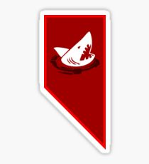 Red Sharks Morale Sticker