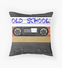 Old school music Throw Pillow