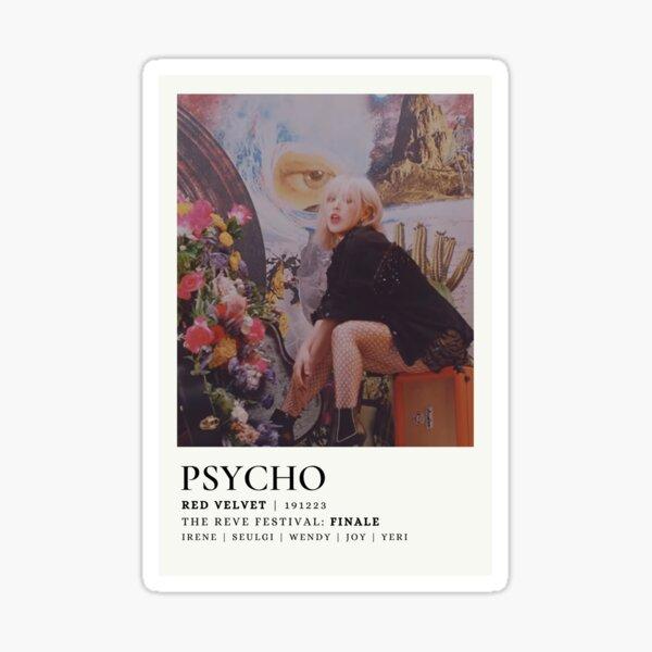 Red Velvet Wendy - Psycho Paint Chip Polaroid Pegatina