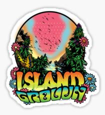 Island Grown 420 art Sticker
