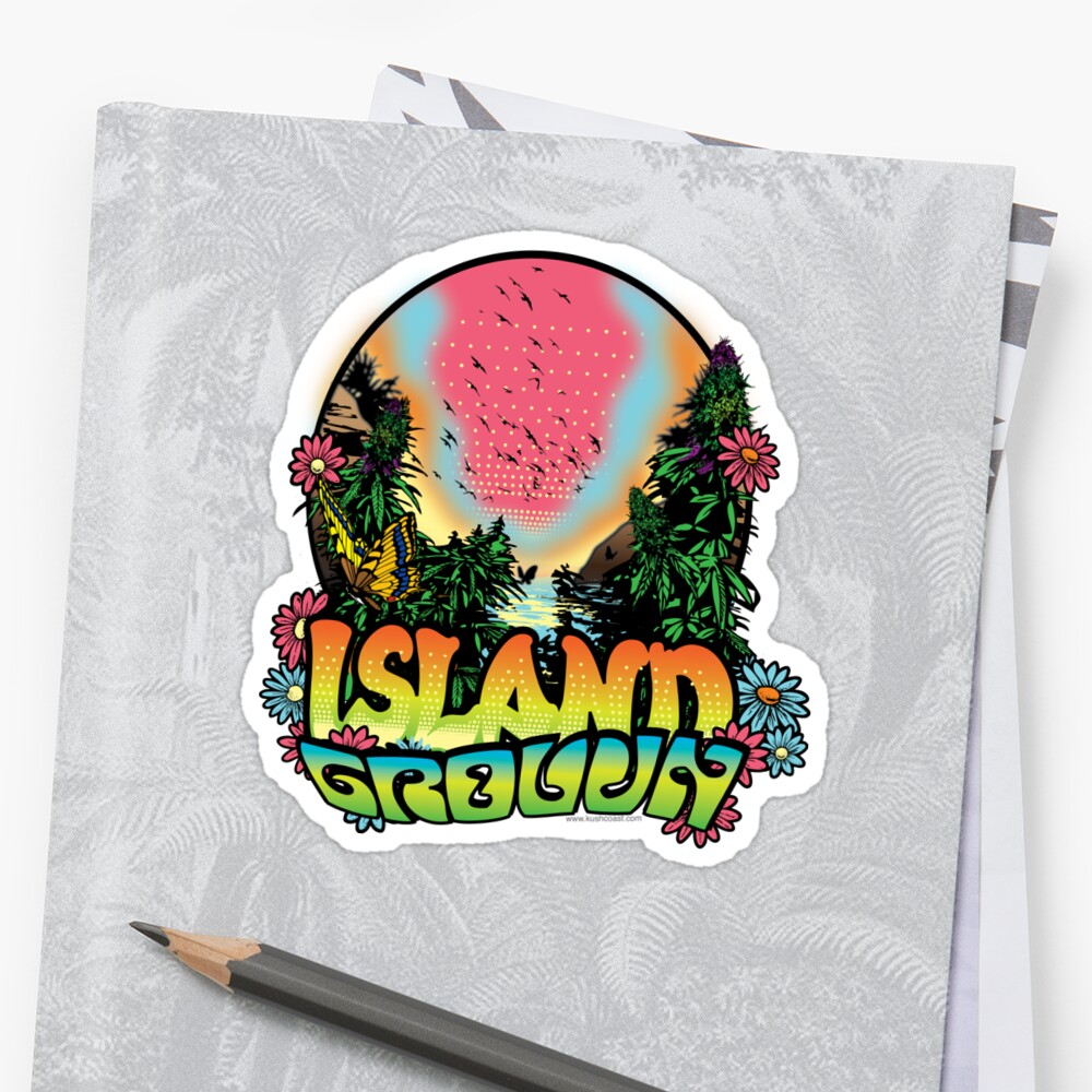 Island Grown 420 art by kushcoast