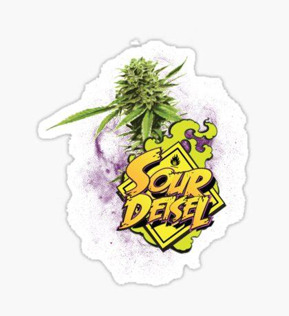 Sour Deisel Marijuana Strain Art Sticker