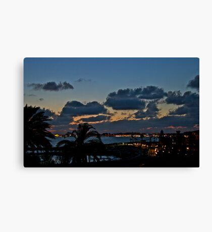 Paphos at Night Canvas Print
