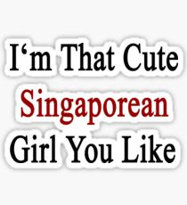 I'm That Cute Singaporean Girl You Like Sticker