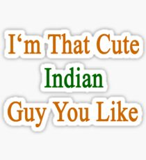 I'm That Cute Indian Guy You Like Sticker