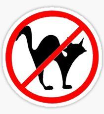 No Cats?! Sticker