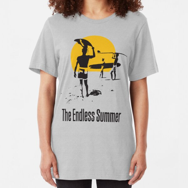Endless Summer, 1966 Surf Sport Documentary Poster, Artwork, Prints, Posters, Tshirts, Men, Women, Kids Slim Fit T-Shirt