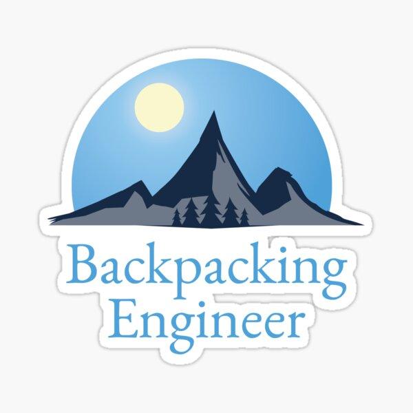 Backpacking Engineer Logo Sticker Sticker