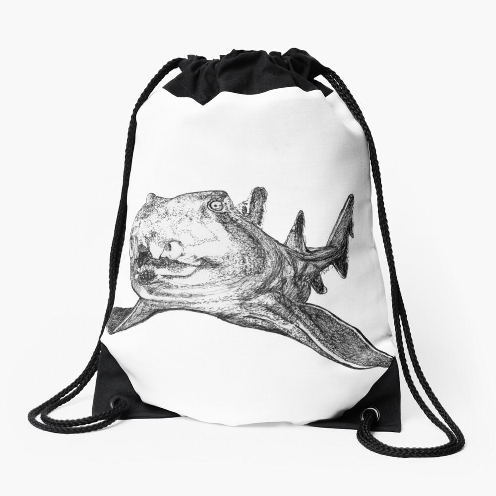 Gracie the Port Jackson Shark Drawstring Bag