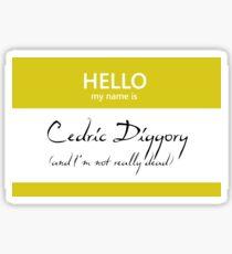 Cedric Diggory Name Tag Sticker