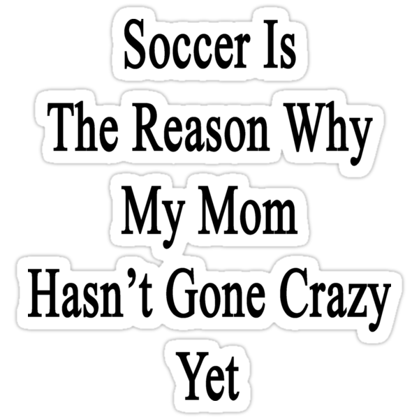 Soccer Is The Reason Why My Mom Hasn't Gone Crazy Yet by supernova23
