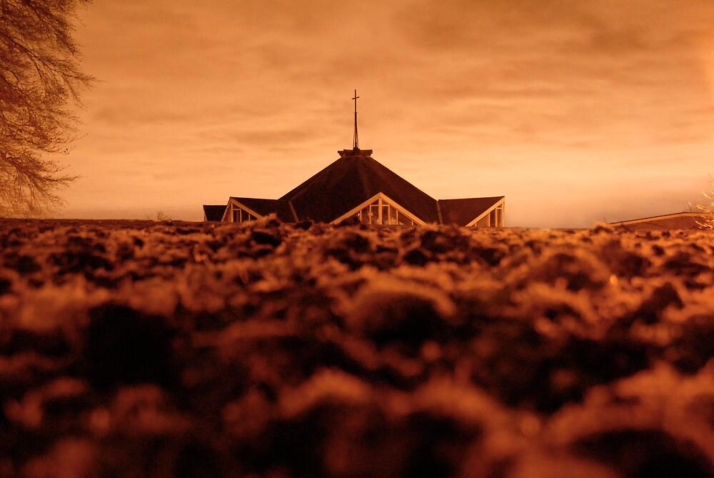Church at night. by GreyCard