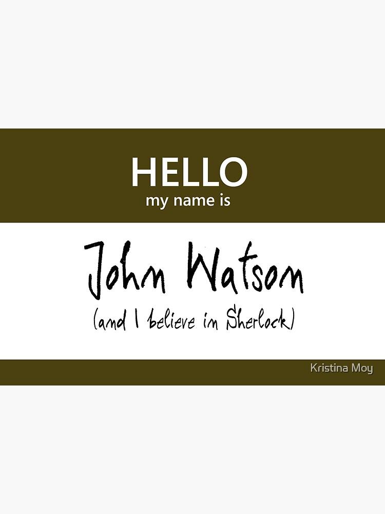 John Watson Name Tag by blackoutart