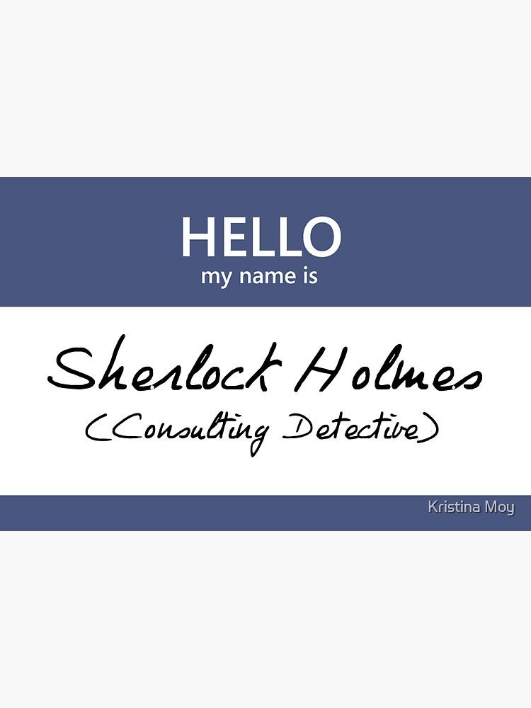 Sherlock Holmes Name Tag by blackoutart