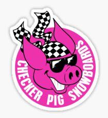 Checker Pig - Circle Sticker